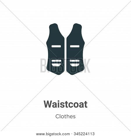 Waistcoat icon isolated on white background from clothes collection. Waistcoat icon trendy and moder