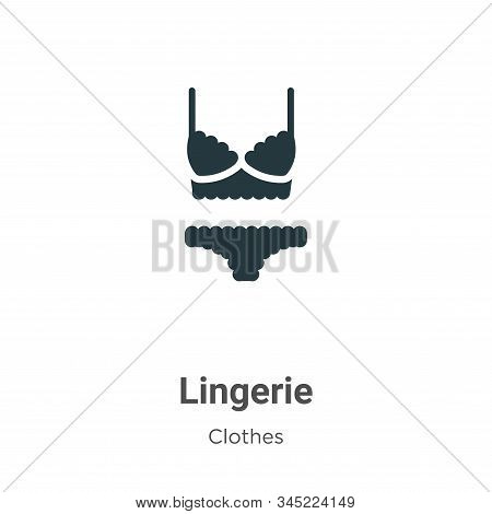 Lingerie icon isolated on white background from clothes collection. Lingerie icon trendy and modern