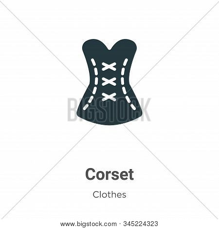 Corset Vector Icon On White Background. Flat Vector Corset Icon Symbol Sign From Modern Clothes Coll
