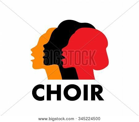 Choir Logo Vector Illustration. Singing People, Music.