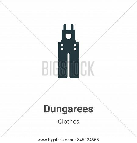 Dungarees icon isolated on white background from clothes collection. Dungarees icon trendy and moder