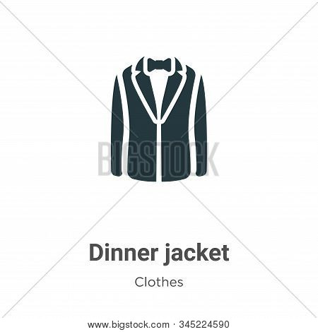Dinner Jacket Vector Icon On White Background. Flat Vector Dinner Jacket Icon Symbol Sign From Moder