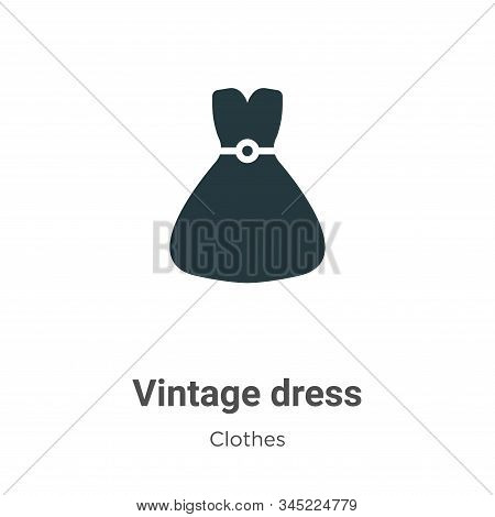 Vintage dress icon isolated on white background from clothes collection. Vintage dress icon trendy a