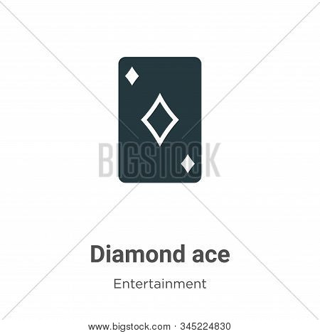 Diamond ace icon isolated on white background from entertainment collection. Diamond ace icon trendy