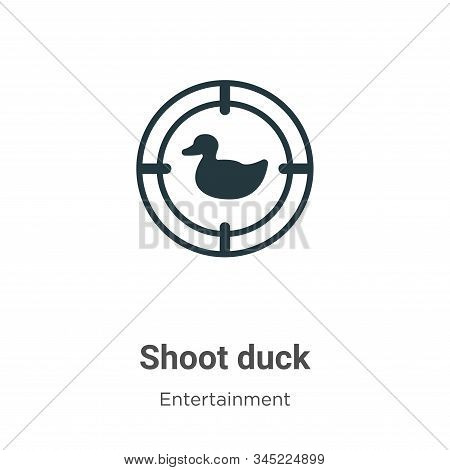 Shoot duck icon isolated on white background from entertainment collection. Shoot duck icon trendy a