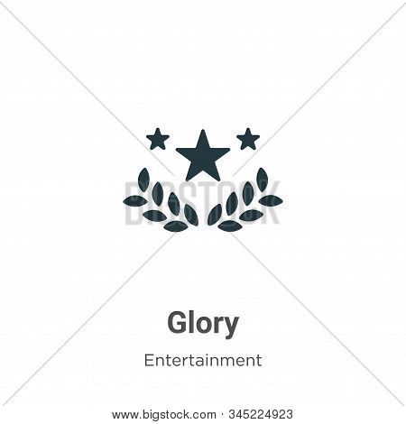 Glory icon isolated on white background from entertainment collection. Glory icon trendy and modern