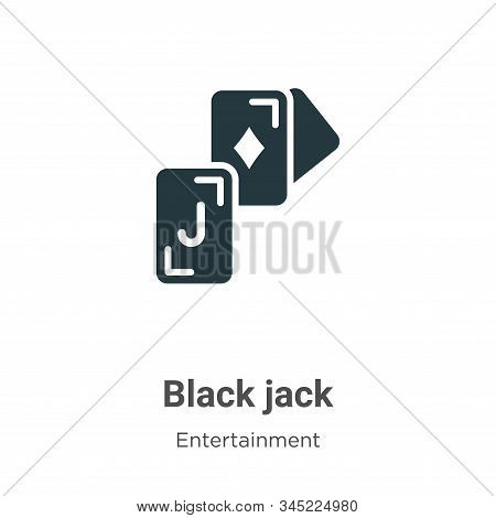 Black jack icon isolated on white background from entertainment collection. Black jack icon trendy a