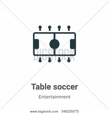Table soccer icon isolated on white background from entertainment collection. Table soccer icon tren
