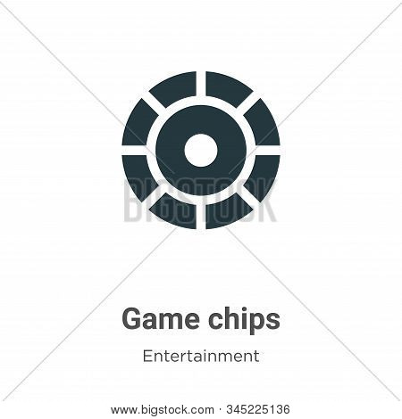 Game chips icon isolated on white background from entertainment collection. Game chips icon trendy a