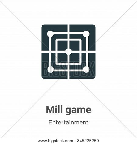 Mill game icon isolated on white background from entertainment collection. Mill game icon trendy and