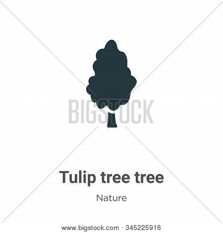 Tulip tree tree icon isolated on white background from nature collection. Tulip tree tree icon trend