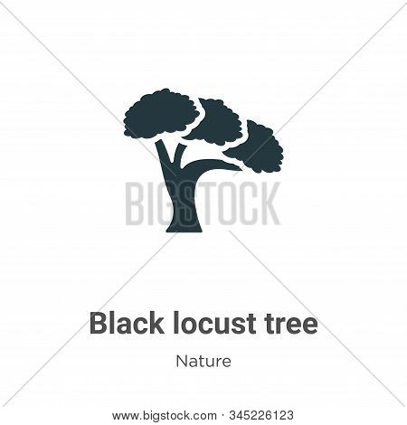 Black locust tree icon isolated on white background from nature collection. Black locust tree icon t