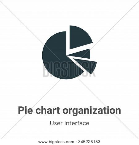 Pie chart organization icon isolated on white background from user interface collection. Pie chart o