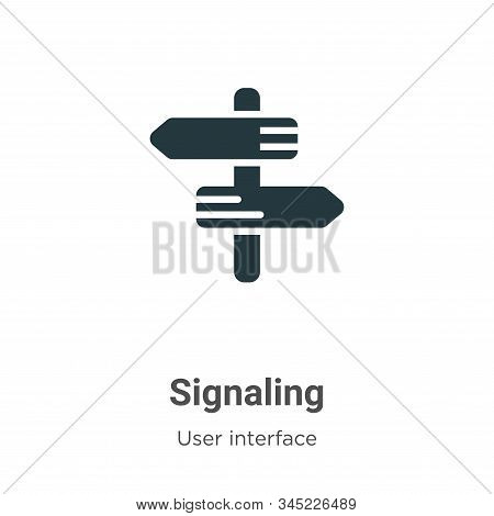Signaling icon isolated on white background from user interface collection. Signaling icon trendy an