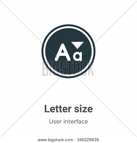 Letter size icon isolated on white background from user interface collection. Letter size icon trend