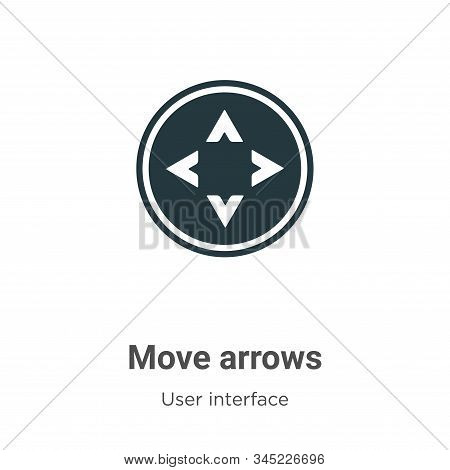 Move arrows icon isolated on white background from user interface collection. Move arrows icon trend