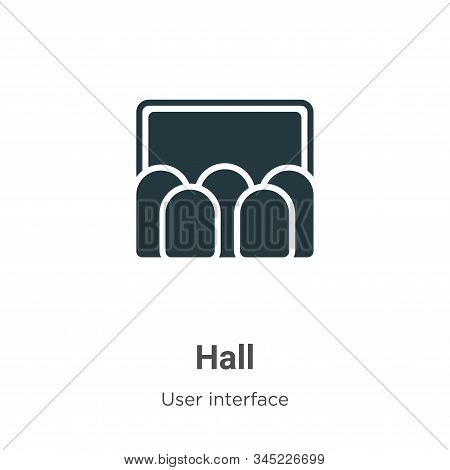 Hall Vector Icon On White Background. Flat Vector Hall Icon Symbol Sign From Modern User Interface C
