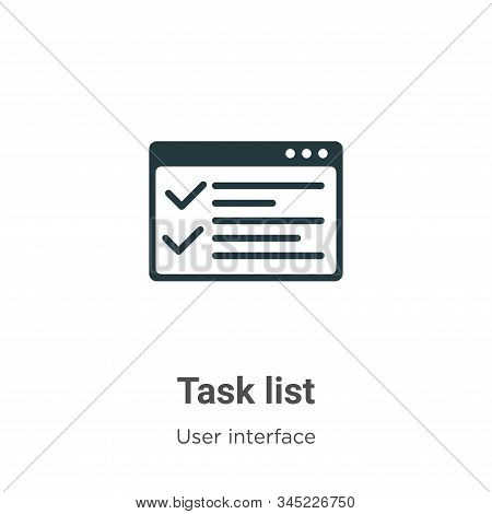 Task list icon isolated on white background from user interface collection. Task list icon trendy an