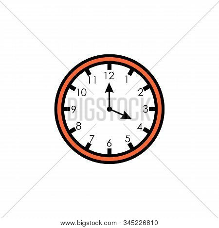 Clock Icon Isolated On Background. Clock Icon Page Symbol For Your Web Site Design Clock Icon Logo,