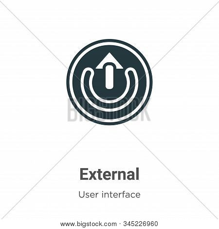 External Vector Icon On White Background. Flat Vector External Icon Symbol Sign From Modern User Int