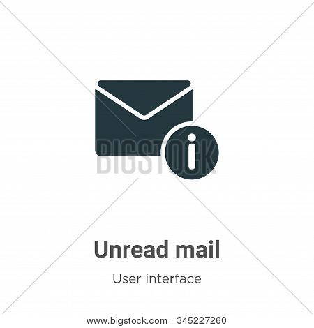 Unread mail icon isolated on white background from user interface collection. Unread mail icon trend