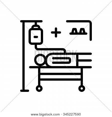 Black Line Icon For Incidence Phenomenon Accident Occurrence Phenomena Treatment Medical