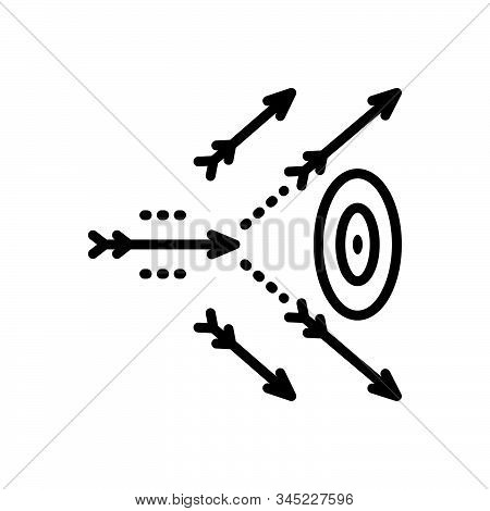 Black Line Icon For Inaccurate Missing  Hitting Incorrect Wrong Erroneous Mistaken