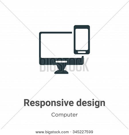 Responsive design icon isolated on white background from computer collection. Responsive design icon