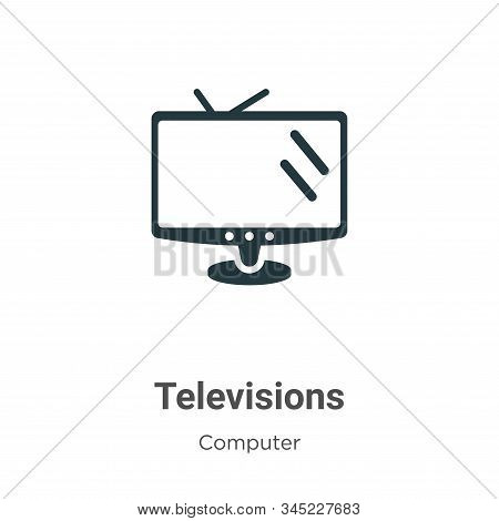 Televisions icon isolated on white background from computer collection. Televisions icon trendy and