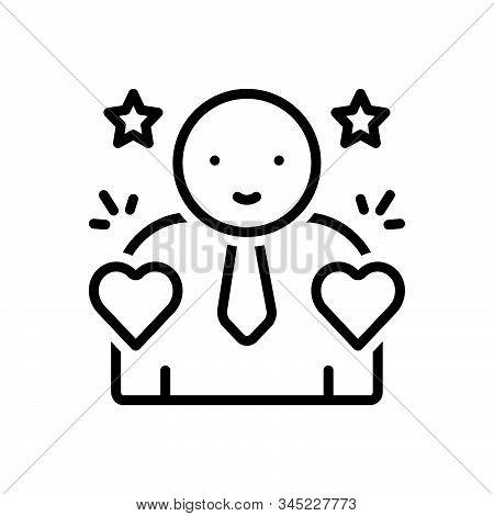 Black Line Icon For Incorruptible Honest Upright Sincere Conscientious Scrupulous
