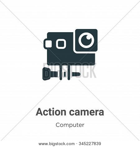Action camera icon isolated on white background from computer collection. Action camera icon trendy