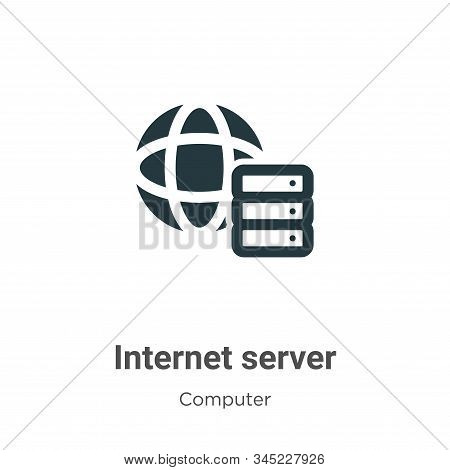 Internet server icon isolated on white background from computer collection. Internet server icon tre