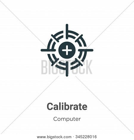 Calibrate icon isolated on white background from computer collection. Calibrate icon trendy and mode