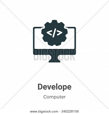 Develope icon isolated on white background from computer collection. Develope icon trendy and modern