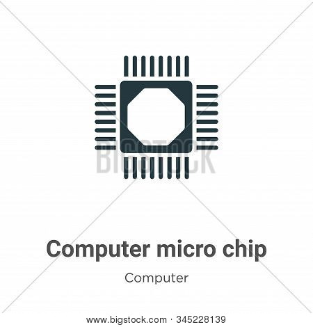 Computer micro chip icon isolated on white background from computer collection. Computer micro chip