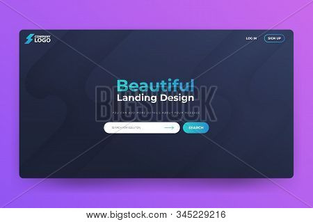 New Beautiful Landing Page Vector Template Design