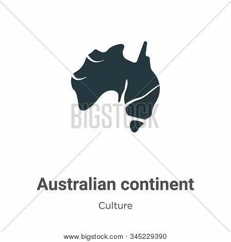 Australian continent icon isolated on white background from culture collection. Australian continent