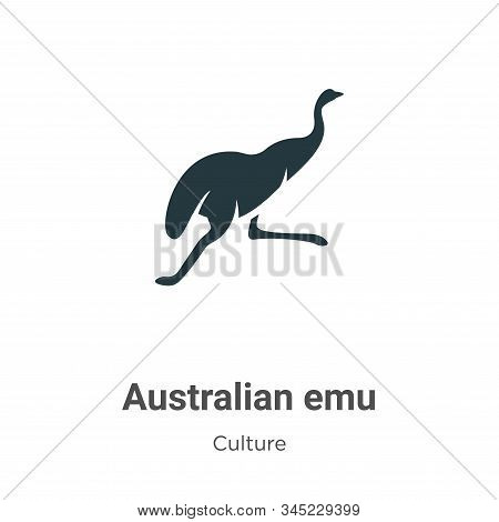 Australian emu icon isolated on white background from culture collection. Australian emu icon trendy