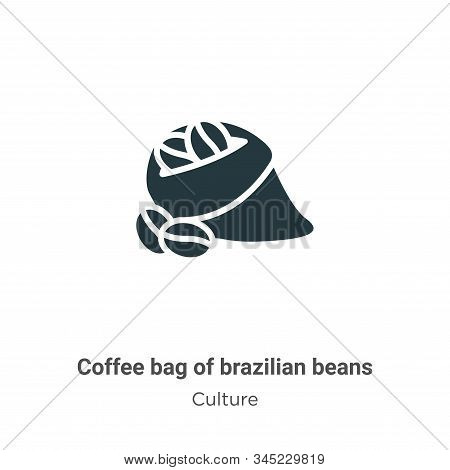 Coffee bag of brazilian beans icon isolated on white background from culture collection. Coffee bag