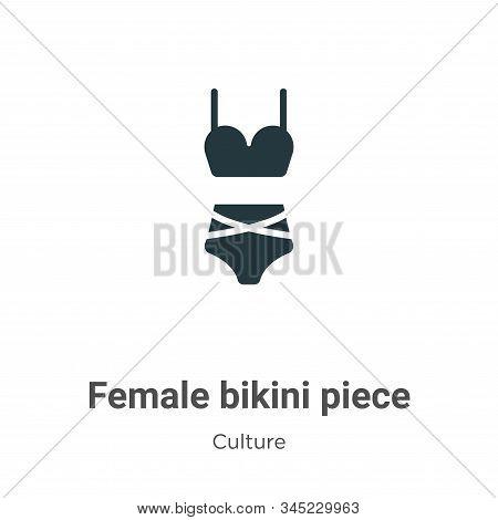 Female Bikini Piece Vector Icon On White Background. Flat Vector Female Bikini Piece Icon Symbol Sig