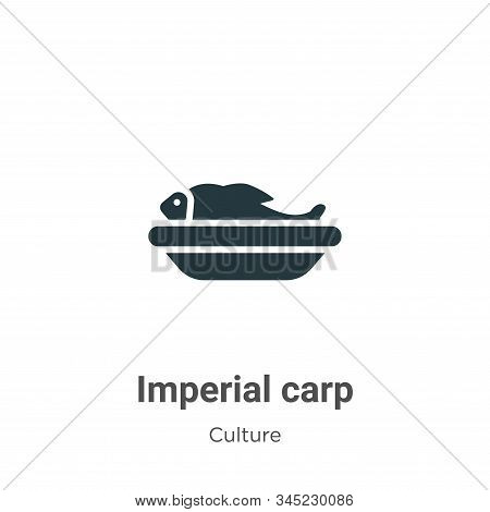 Imperial carp icon isolated on white background from culture collection. Imperial carp icon trendy a