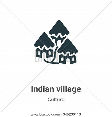 Indian village icon isolated on white background from culture collection. Indian village icon trendy