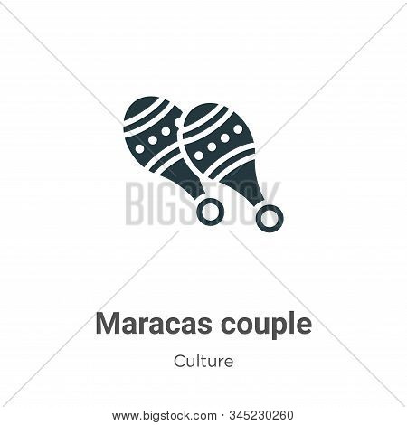 Maracas couple icon isolated on white background from culture collection. Maracas couple icon trendy