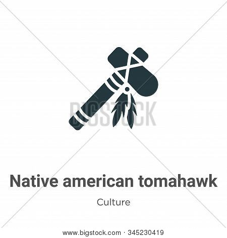 Native american tomahawk icon isolated on white background from culture collection. Native american