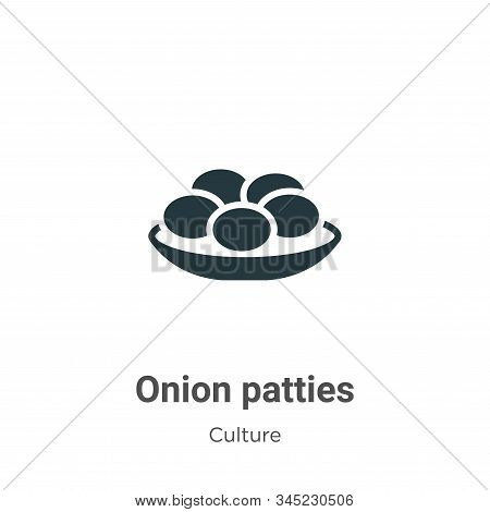 Onion patties icon isolated on white background from culture collection. Onion patties icon trendy a