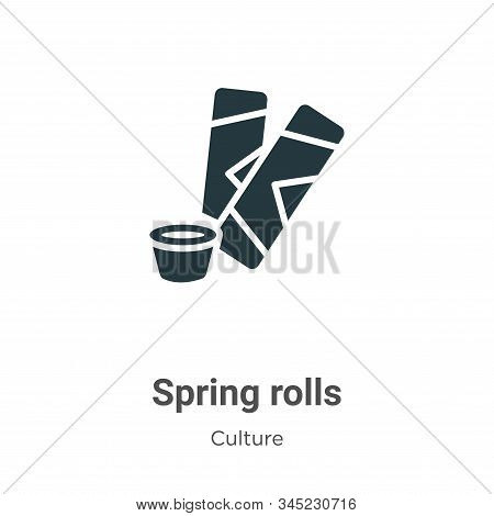 Spring rolls icon isolated on white background from culture collection. Spring rolls icon trendy and