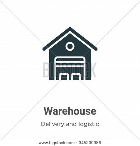 Warehouse Vector Icon On White Background. Flat Vector Warehouse Icon Symbol Sign From Modern Delive