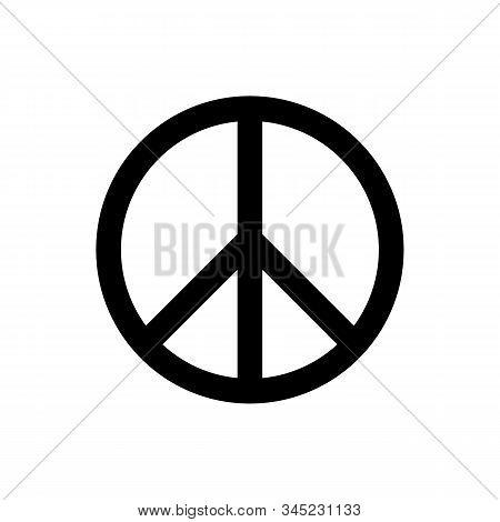 Peace Sign Icon Vectorfor Graphic Design, Logo, Web Site, Social Media, Mobile App, Ui Illustration