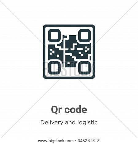 Qr code icon isolated on white background from delivery and logistic collection. Qr code icon trendy