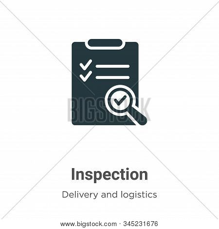 Inspection icon isolated on white background from delivery and logistics collection. Inspection icon